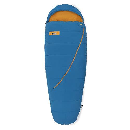 Qeedo Buddy Schlafsack in Eiform, Mumienschlafsack für Damen und Herren, extra breit, blau