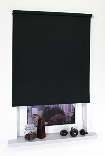 Liedeco verduisterend rolgordijn, 62 x 180 cm, effen, zwart