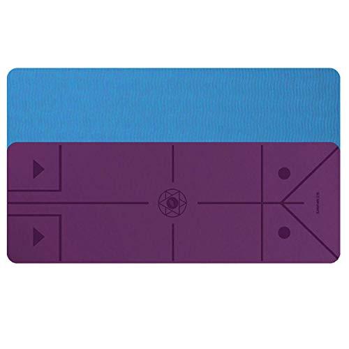 FitTrek Yogamatte rutschfest - 66 x 183 Verbreitert Fitnessmatte - Gymnastikmatte 6mm 8mm TPE - Turnmatte für Pilates Übung Gymnastik mit Tragetasche, Trageschlaufen