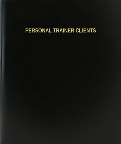 "BookFactory Personal Trainer Client Log Book/Journal/Logbook - 120 Page, 8.5""x11"", Black Hardbound (XLog-120-7CS-A-L-Black(Personal Trainer Client Log Book))"