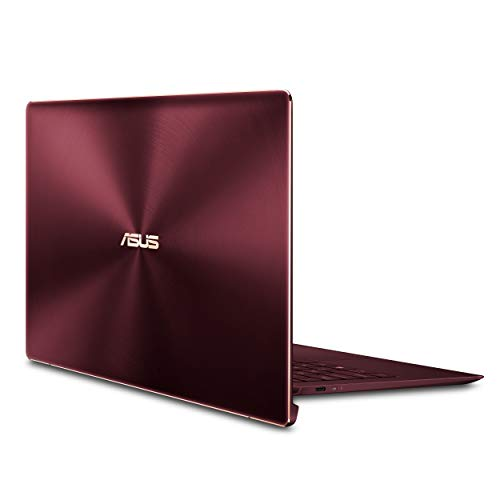 Asus ZenBook S Ultra-Thin and Light 13.3-inch Full HD Laptop with Intel Core i7-8550U, 8GB RAM, 256GB, Windows 10 Pro (Burgundy)