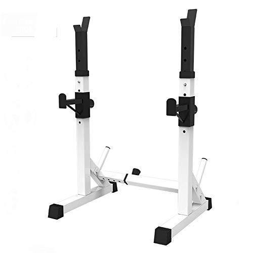 Wjie Squat Rack Regolabile in Altezza,Stand per Squat Bilanciere Banco Stampa Multifunzione casa Bilanciere Rack Power Rack,per Bodybuilding