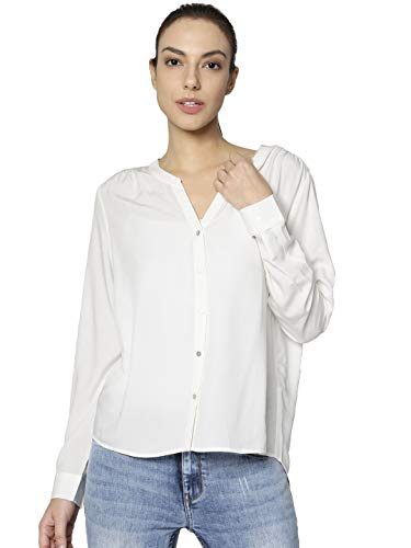 ONLY NOS Damen Bluse onlSUGAR Fallow L/S Shirt NOOS WVN, Weiß (Cloud Dancer), (Herstellergröße: 40)