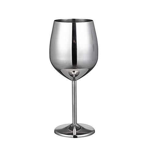 kangOnline Copa de champán de acero inoxidable copa de vino copa de cóctel de metal copa de vino bar restaurante copa casa cafetería bar bebidas fiesta