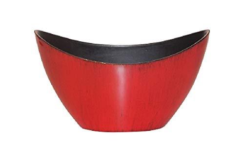Schreiber Bol décoratif décoratif en Plastique Rouge/Noir laqué 20 x 9 x 12 cm