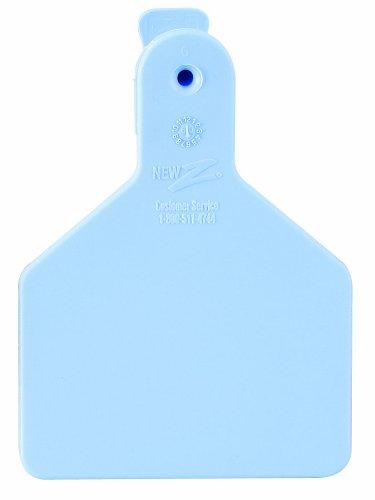 ZTags Lot de 100 étiquettes Vierges pour Mollets Bleu