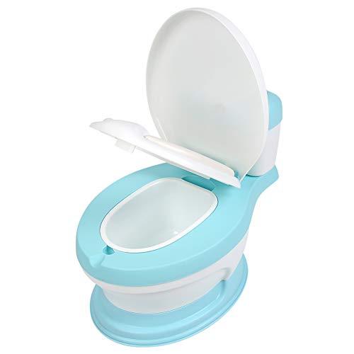 Cocoarm Kinder Toilette Töpfchen Baby Toilettentrainer Toilettensitz Hocker Simulation Toilettenstuhl für Kleinkinder (Blau)