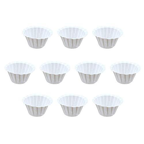 DOLDOA Haushalt Wohnen,Kaffeefilter-Papierschale Wegwerfpapierschale Kcup Nahrungsmittelgrad-Schalen-Form (Weiß)