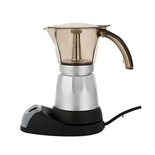 Mokka pan huishouden plug-in koffiezetapparaat kantoor koffiezetapparaat espressomachine handig aluminium elektrische mokka pan 6 porties