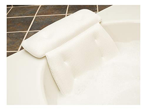 QuiltedAir Bath Pillow - Luxury Bathtub Pillow with 3D Air Mesh Technology,...