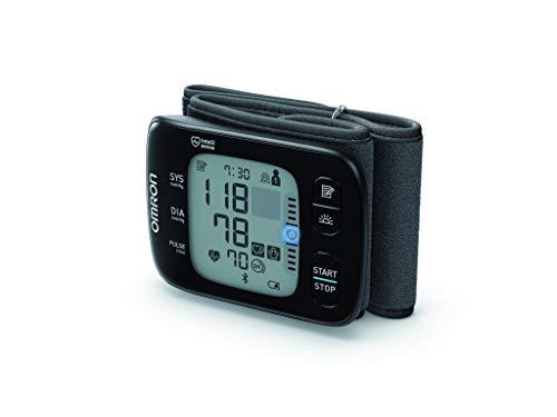 OMRON RS7 Tensiomètre Poignet connecté Bluetooth - Intelli IT avec Capteur de Positionnement , pour Utilisation à Domicile ou en Déplacement