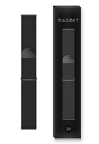 Bracelet de Montre Intense Black [Maille Milanaise 20MM] [Acier Inoxydable] Hommes & Femme - Compatible pour Connectée Withings Steel - Samsung Galaxy Watch/Active 1, 2Cadran 40 et 44MM/S2/GearSport