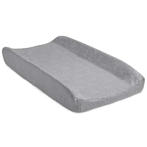 Serta Perfect Sleeper Contoured Changing Pad with Plush Cover Grey