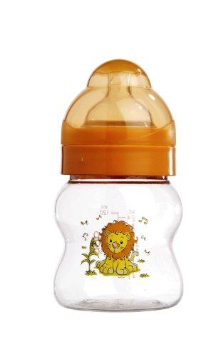 """dBb Remond Biberon """"Lo"""" Tritan - Sans Bisphénol A - Décor """" Lion """" - Tétine Silicone - 0-4 Mois - Système Transparent - 120 ml"""