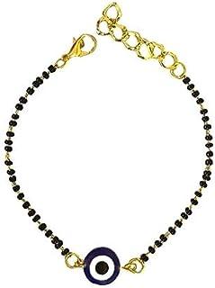 The Bling Stores Alloy Gold-plated Evil Eye Charm Bracelet Hand Mangalsutra