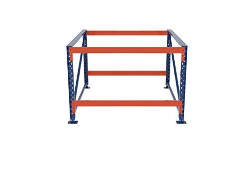 LR Pakketafel, onderstel, werktafel, werkplaatstafel, werkbank, in hoogte verstelbaar/zonder bodem, verschillende afmetingen en niveaus 120x75-115x80cm, 2 Ebenen