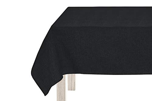 Giovanni Dolcinotti Table Collection   Mantel rectangular antimanchas impermeable color gris oscuro 130 x 160