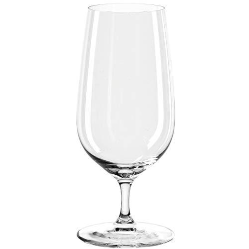 Leonardo Tivoli Bier-Glas, Bier-Tulpe mit gezogenem Stiel, spülmaschinenfeste Bier-Gläser, 6er Set, 400 ml, 066395