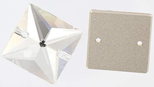 Clear Crystal (001) 3240Cuadrado 22mm Crystal de Swarovski Coser en Piedras