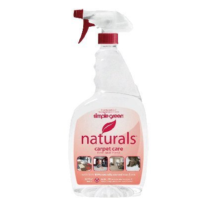 Simple Green Naturals Care Carpet Cleaner, Colorless to Pale Straw, 24 Fl Oz