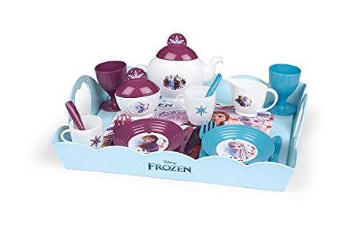 Smoby - Die Eiskönigin Serviertablett - 10-tlg Spielzeuggeschirr - Teeservice Teekanne