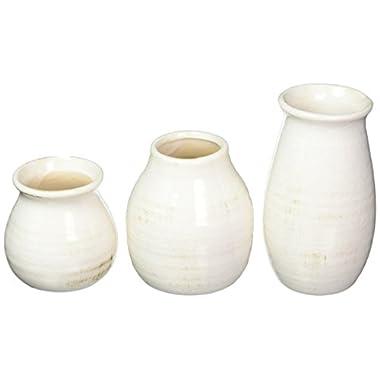 Sullivans Rounded Vase, Worn White