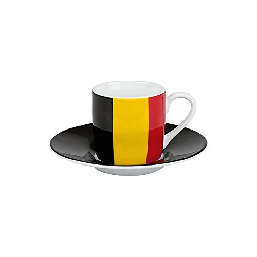 Könitz Espressoset Flaggen Belgien
