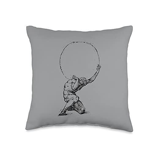 Atlas Greek mythology Greece Greek Gods and Heroes Throw Pillow, 16x16, Multicolor