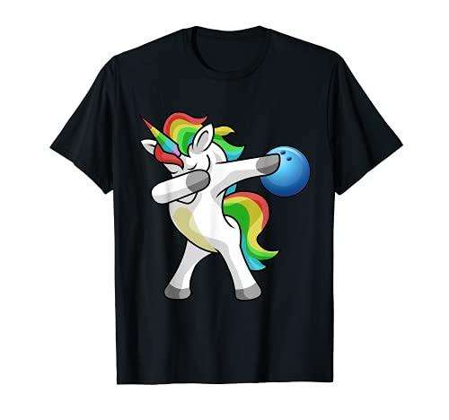 Sanftes Einhorn Bowling T-Shirt Funny DAB Geschenk Shirt