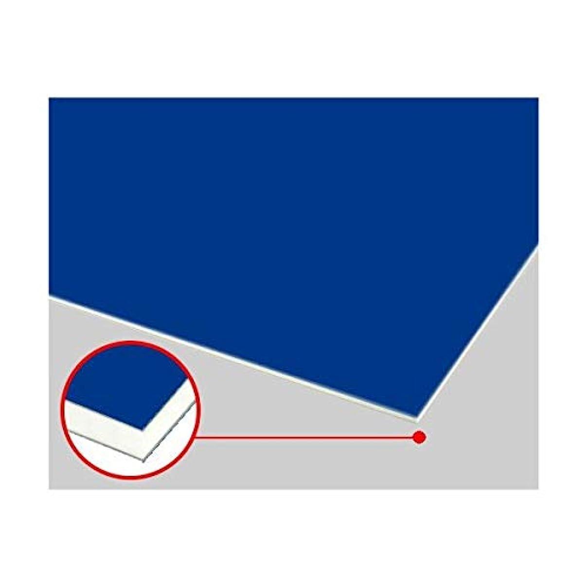 サドル容器ロケーションアルミ複合板ソレイタ(両面ブルー 艶あり/艶なし)3mm 450×450mm 縮小カット1枚無料 (メーカー規格板は法人限定出品に移行しました)