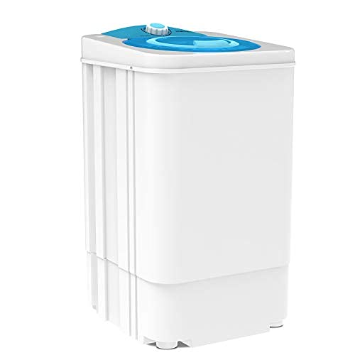 Portable Mini Compact Spin Dryer For Laundry /1500 RPM 110V,17.6lbs Capacity,White&Bule(Can only be dried, not washed)