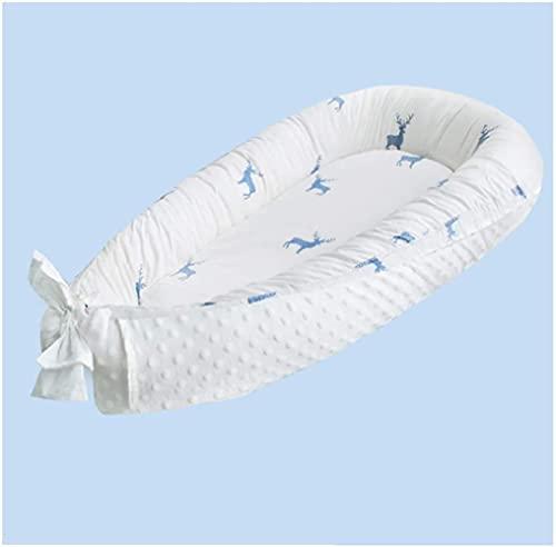 angelHJQ Nido de bebé para recién nacidos y bebés, valla de seguridad de 16 cm, lavable, cuna para cama, tumbona, nido, cuna, cama, 80 x 50 cm