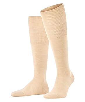 FALKE Mens Airport Knee-High Socks Merino Wool Cotton Beige  Sand 4320  US 9.5-10.5  EU 43-44 Ι UK 8.5-9.5  1 Pair