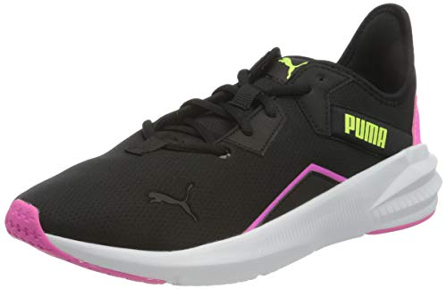 PUMA Platinum WNS, Zapatillas de Gimnasio Mujer, Rosa (Luminous Pink Black/Fizzy Yellow), 38.5 EU