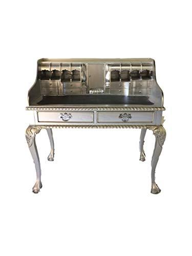Antiker Barock Louis Seize Renaissance Rokoko Sekretär Farbe:Silber Schreibtisch Schminktisch Länge102xHöhe108xBreite58cm Nr.1