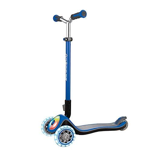 Patinetes clásicos Scooters, niños Scooter 3 Ruedas Yo Car 3-6 años de Edad Solo pie Plegable Niña Niño Slide Coche LED Flash (Color : D)