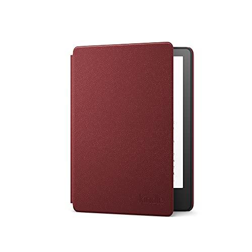 Capa de couro para Novo Kindle Paperwhite (11ª geração - 2021) - Cor Vinho