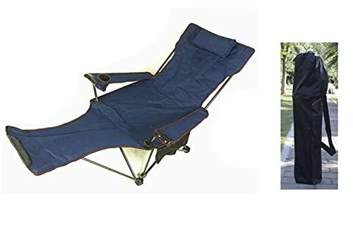 CNBPLS Sillas De Camping, Tela Plegable Reclinable, Portátil con Taza De Taza Desmontable Y Transporte Silla De Playa,A