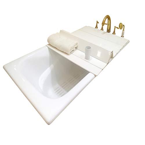 TGjY Badewannenabdeckung Anti-Staub-Falten-Staub-Platte Badewannenisolierungsabdeckung PVC weiß (größe : 159cm*70cm*0.6cm)