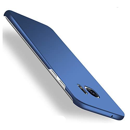 Galaxy S7 edge Case,Heyqie[SKIN TOUCH FEEL] Ultra-thin Metallic Texture Anti-fingerprint/skid/fade PC Back Protective Phone Cover Case for Samsung Galaxy S7 Edge G9350 - Blue