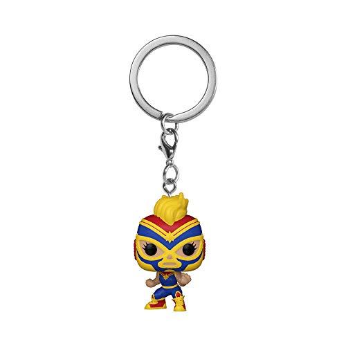 Funko 53894 POP Keychain Luchadores-Captain Marvel, Multicolour