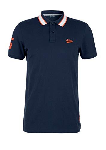 s.Oliver RED Label Herren Poloshirt mit Kontrast-Kragen Dark Blue M
