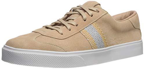 KAANAS Damen Perugia LACE UP Suede Stripe Sneaker Turnschuh, Nude, 39 EU