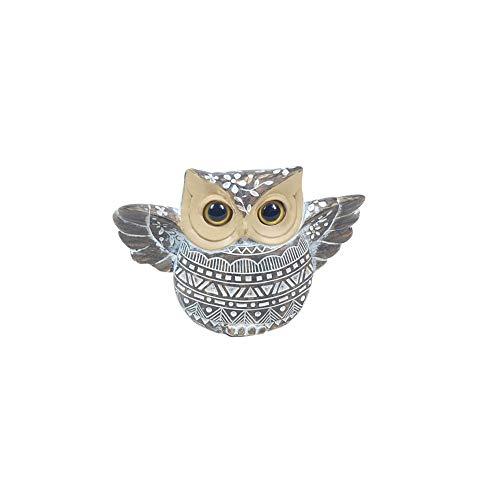 Home Gadgets Figura Decorativa Resina Buho Gris 11 cm