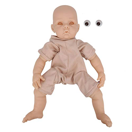 Kit de muñecas Reborn de 22 pulgadas, vinilo de silicona sin pintar, hecho a mano, hecho a mano, realista, de cuerpo completo, muñecas recién nacidas, juguete de simulación de tacto real, muñe