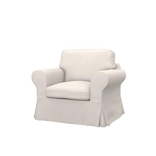Soferia Bezug fur IKEA EKTORP Sessel, Stoff Eco Leather Light Beige