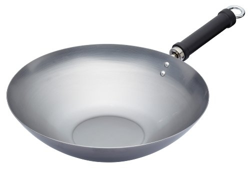 Kitchen Craft Pure Oriental Wok aus Carbonstahl, 30 cm