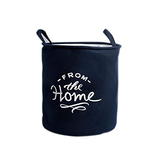 Lzpzz Cesta de lavandería para el hogar, plegable, impermeable, para revistas, necesidades diarias, cubo de almacenamiento para dormitorio, sala de estar, baño, color azul