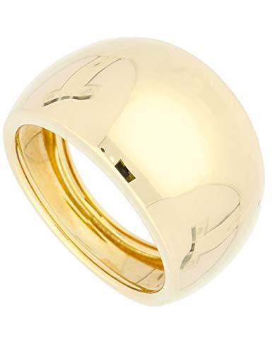 MyGold Ring Gelbgold 585 Gold (14 Karat) Ohne Stein Schlicht Gr. 60 Damenring Breit 14mm Goldring 3,5gr Wilshere R-06062-G401-W60