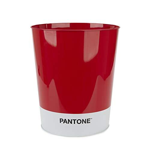 Balvi Papelera Pantone Color Rojo Cubo de Reciclaje para la Oficina y el hogar Producto de papelería de diseño Moderno y Minimalista Lata 26x22x22 cm